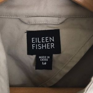 Eileen Fisher Cotton Poplin Jacket A-Line